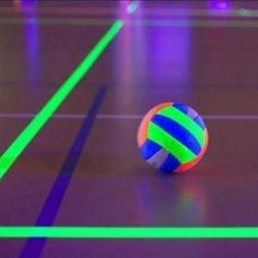 Glow in the dark volleyball. Genius!