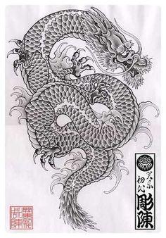 Japanese Dragon 용 kjgma01 #dragon #tattoos #tattoo                              …
