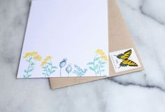 floral stationery to customize via Lou & Letter Paper Co. on Etsy