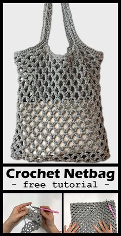 Net Bag Crochet Crochet your own net bag with free tutorial. Net Bag Crochet Crochet your own net bag with free tutorial. Bag Crochet, Crochet Market Bag, Crochet Handbags, Crochet Purses, Crochet Crafts, Crochet Stitches, Crochet Baby, Crochet Amigurumi, Diy Crafts