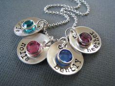 kids birthstone pendants for necklace...love it