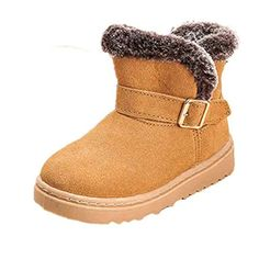 GBSELL Fashion Winter Toddler Baby Girls Boys Leather Cotton Boot Warm Snow Martin Shoes (Yellow, 4~5 Year) ** Check out the image by visiting the link.