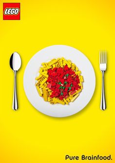 advertising campaign Lego: Pure Brainfood Created by Ben Gerstner -
