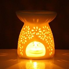 Ceramic Essential Oil Diffuser - Aromatherapy Essential Oil Burner Ceramic Tea Light