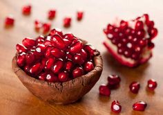 the seeds of pomegranate