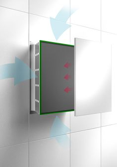 Exhaust fans in bathrooms are a necessary evil that many interior designers struggle with. There is a way to make them invisible and completely disappear when Plastic Curtains, Bamboo Curtains, Neutral Curtains, Black Curtains, Office Curtains, Bathroom Curtains, White Roller Blinds, Bathroom Exhaust Fan, Wall Fans