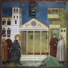 Giotto  St. Francis Honoured by a Simple Man  1300  San Francesco, Upper Church, Assisi, Italy