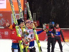 Ski Jumping Falun HS134 Podium. 2015.