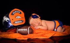 Baby Stella! Huge Denver Bronco fan!
