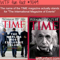 What T-I-M-E in TIME magazine stands for - WTF fun facts