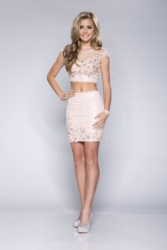 Divinely Hers Boutique - Fun Times two piece dress with fitted skirt and mesh neckline (http://stores.divinelyhersboutique.com/fun-times/)