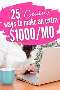 Make Money From Home, Way To Make Money, Make Money Online, Make Ends Meet, Extra Money, Advice, Learning, Hustle, Pocket