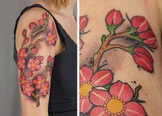Tattoo-Foto: kirschblüten