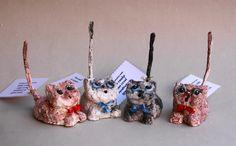 gatti porta-anelli  #marinamarchetti#le cartapeste#opere dell'ingegno#fFerrara#mercatini#fatto a mano