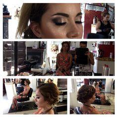 Hair and makeup #metalic #eyeshadow #alehandro #trendy