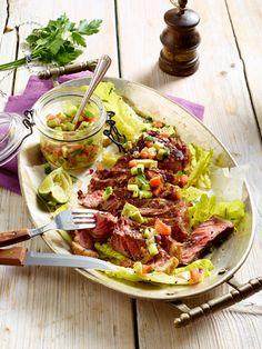 Low Carb Abendessen: 15 schlanke Rezepte Roastbeef auf Salat