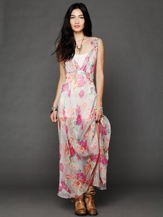 Mary Green Alicia Maxi Slip at Free People Clothing Boutique