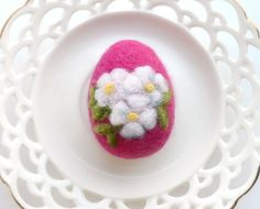 Easter Egg Handmade Needle Felted Easter Egg Decoration by WoolPaw