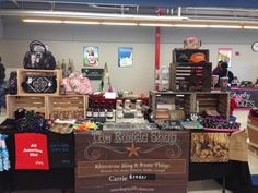 Carrie Reeder at it again! She changed up her display to fit the venue and had a great response from her customers.