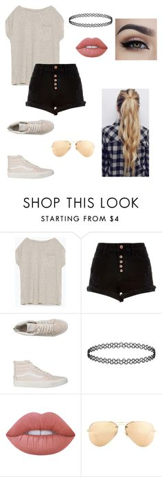 """Untitled #61"" by paigevjacobs on Polyvore featuring Zara, Vans, Lime Crime and Ray-Ban"