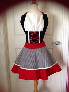Pirate costume apron - looks kinda like a dirndl, though...