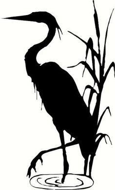 wall decal Blue heron crane decor nature animal beach decal summer decal living room decal bedroom decal outdoors wildlife vinyl decal decor wall decal Blue heron crane decor by WallDecalsAndQuotes on Etsy Bird Stencil, Stencil Art, Stencils, Stencil Patterns, Sommer Tattoo, Heron Tattoo, Animal Silhouette, Black Silhouette, Nature Animals