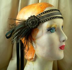 Ivory with black trim forehead hiding band