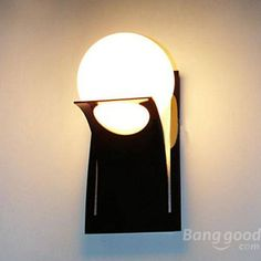 2015 New Brief Modern Round Ball Glass Stair Balcony Wall Light Bedroom Lamps