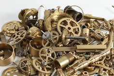 Small brass parts - Steampunk Decor - this blog has all kinds of how-to stampunk ideas, fun!