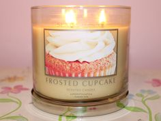 Frosted Cupcake candle, always smells like fresh cookies! Yum!