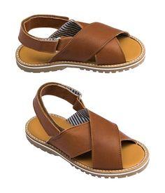 Sandales garçon en cuir