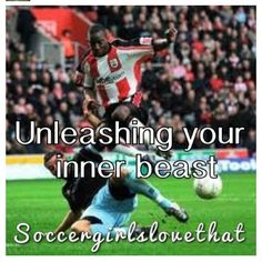 Unleashing your Inner Beast! :) I always do this at the very end and then after the game I feel like i could fall to the floor