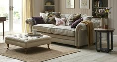 Loch Leven Grand Pillow Back Sofa Meadow Plain | DFS