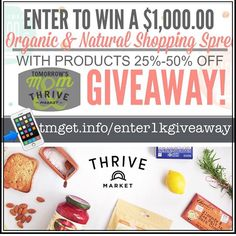 LAST CHANCE THRIVE PICKS WINNER SOON . . Repost: I am beyond  excited and humbled to team up with Thrive Market to not only give Tomorrows Mom readers a chance at winning an amazing 1k Shopping spree!!!! . .  As you may or may not know the increase of disease and illnesses has picked up drastically  in the United States for the first time ever  recent studies have shown that this generation of children will be the first in western civilization that may NOT outlive their parents. . . Yes this…