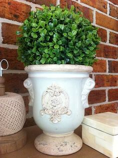 NEW Ceramic Pot/Urn, Topairy/French Provincial/Country/Shabby Chic/Home Decor
