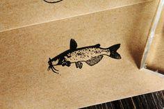 Catfish 1 x 2 Inch Stamp