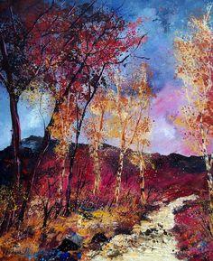 "Saatchi Online Artist: Pol Ledent; Oil, 2011, Painting ""autumn 670808"""