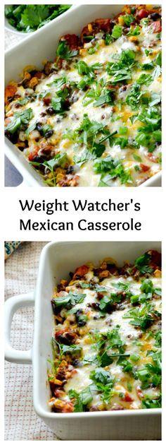 Weight Watcher's Mexican Casserole - Recipe Diaries #casserole #weightwatchers