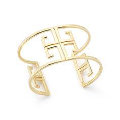 Ivanka Trump Signature 18K Yellow Gold Open Logo Cuff Bracelet