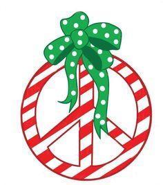 ☮ American Hippie Art ☮ Peace Sign .. Christmas