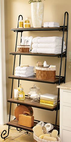 Longaberger Wrought Iron Leaning Bookshelf. This bookshelf works perfectly in every room of your home to help you decorate and organize all in one.