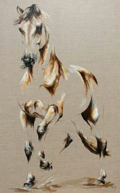 Discover thousands of images about Horse - Oil on canvas Copyright L.PLINGUET www. Horse Drawings, Animal Drawings, Art Drawings, Afrique Art, Horse Artwork, Illusion Art, Equine Art, Animal Paintings, Horse Paintings On Canvas