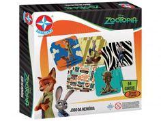 Jogo da Memória Zootopia Disney - Estrela 54 Cartas