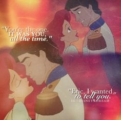 Eric and Ariel will forever be my favorite disney couple <3
