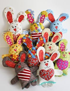 Easter Bunny Sewing Pattern by Jennifer Jangles ~ http://www.polkadotchair.com/2016/02/easter-sewing-projects.html/2/ ~ also see: https://www.etsy.com/listing/218596376/little-love-bunny-soft-toy-sewing?ref=shop_home_active_1