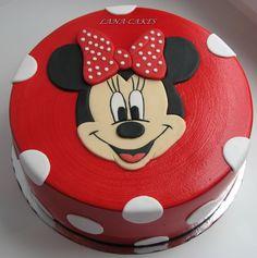 Bolo Do Mickey Mouse, Minnie Mouse Cookies, Bolo Minnie, Minnie Cake, Mickey Cakes, Cartoon Birthday Cake, Minnie Mouse Birthday Cakes, 3rd Birthday Cakes, Mini Mouse Cake