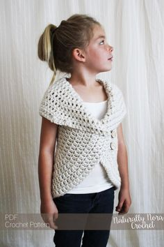 Crochet Pattern: The Julia Sweater -Toddler, Child, Adult S,M,L neutral, chunky, ribbed, simple by NaturallyNoraCrochet on Etsy https://www.etsy.com/listing/152452947/crochet-pattern-the-julia-sweater