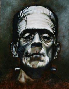 Frankenstein oil painting by Steven Bejma!  http://www.classichorrorsart.blogspot.com