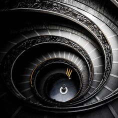 The double staircase of the Vatican Museums - #vaticanmuseums #vaticancity #vatican