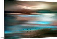 Beautiful Turquoise Taupe Art